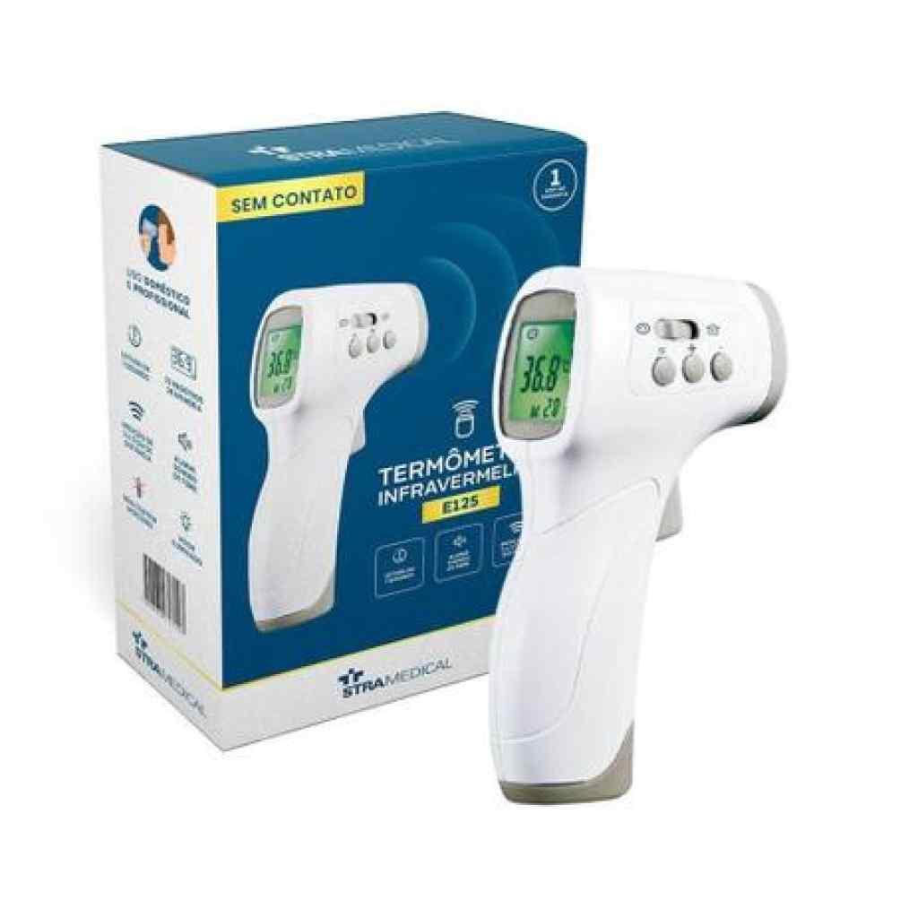 Amparar BH - Termômetro Infravermelho Digital - Sem Contato E125 Stra Medical - Termômetro Infravermelho Digital - Sem Contato E125 Stra Medical