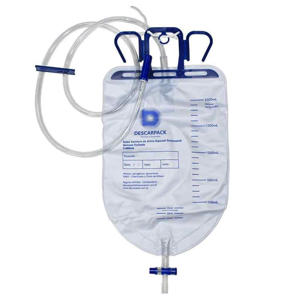 Amparar BH - Bolsa Coletora De Urina Sistema Fechado - 2 Litros - Descarpack -