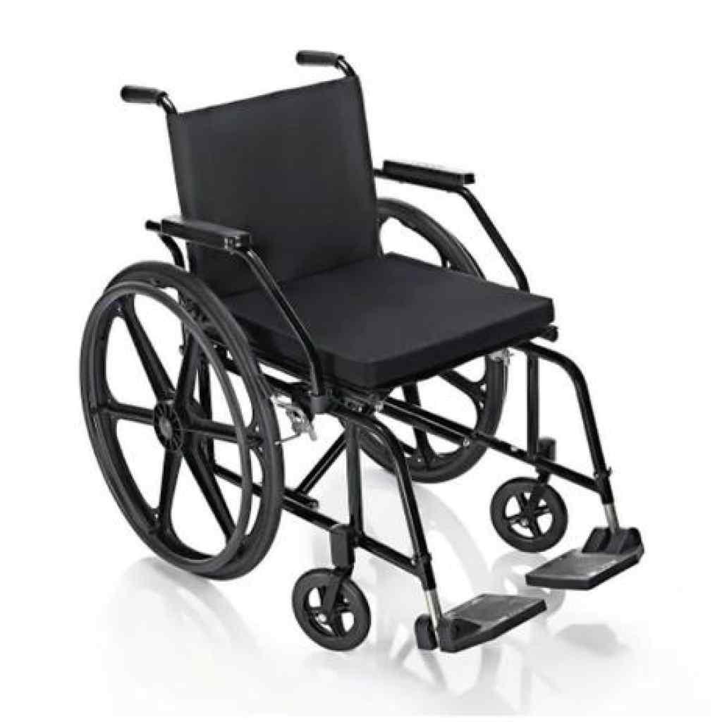 Amparar BH - Cadeira de Rodas Prática Pneu Maciço PL4001 44cm Prolife ALUGUEL 120,00 POR 30 DIAS - Cadeira de Rodas Prática Pneu Maciço PL4001 44cm Prolife