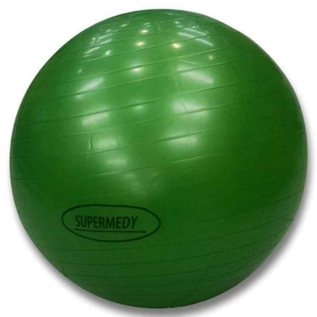 Amparar BH - Bola de Pilates 75 cm Verde c/ Bomba Supermedy - Bola de Pilates 75 cm Verde c/ Bomba Supermedy