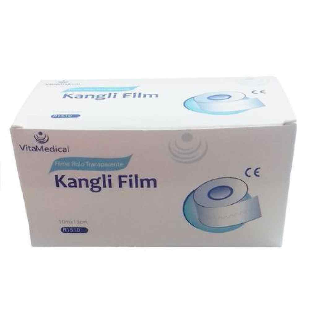 Amparar BH - Curativo Filme Transparente Em Rolo Kangli Film (15 cm x 10 m) - vitamedical - Curativo Filme Transparente Em Rolo Kangli Film (15 cm x 10 m) - vitamedical